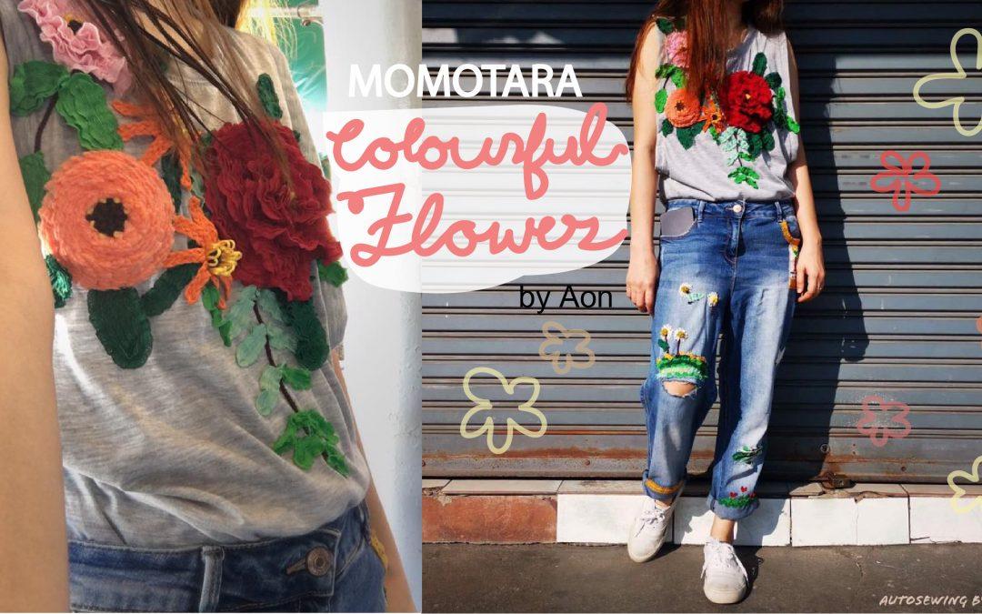 ริบบิ้น MOMOTARA ในงานตกแต่งเสื้อผ้า ในธีม Colourful Flowers